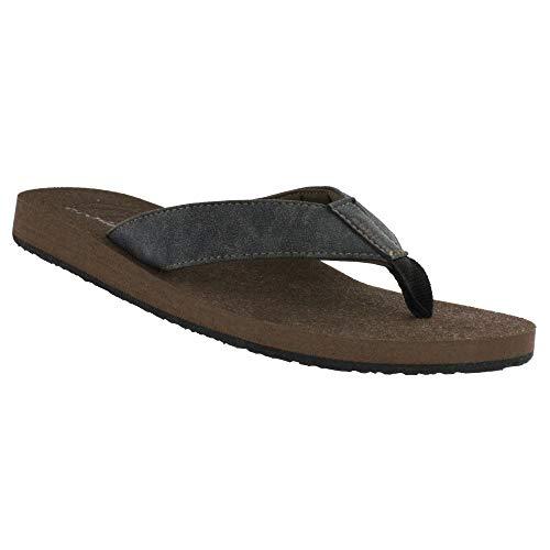 Cobian Floater 2 Men's Flip Flop Sandal - Charcoal 8 M US (Flip Flops Shoes For Men)