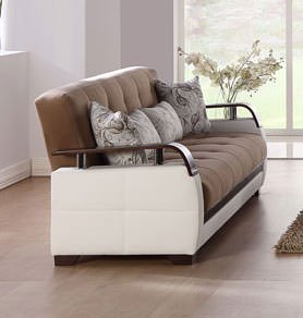 Natural Naomai Light Brown Loveseat by Sunset