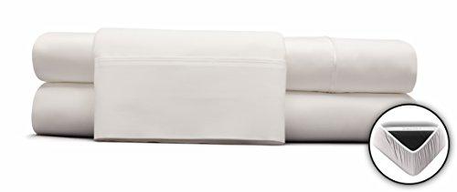 DreamFit 400TC Cotton SPLIT Cal King – Snowflake (Adjustable Bed) Sheet Set