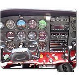 Cessna Instrument Panel - Cessna 172 Instrument Panel Mouse Pad, Mousepad (10.2 x8.3 x 0.12 inches)