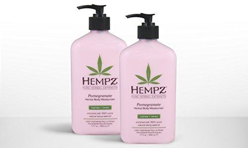 LOT OF  Hempz Herbal Body Moisturizer, Pomegranate, 17 fl oz