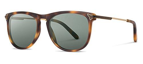Shwood- Keller Acetate, Sustainability Meets Style, Matte Brindle, G15 Polarized - Sunglasses Shwood Wooden