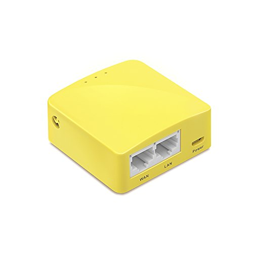 GL.iNet GL-MT300N Mini Travel Router, Wi-Fi Converter, OpenWrt Pre-installed, Repeater Bridge, 300Mbps High Performance, OpenVPN Client, Tor Compatible