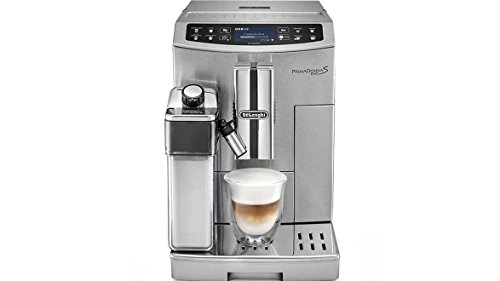 Find Bargain DeLonghi PrimaDonna S Evo Super Automatic Espresso Machine with Thermal Milk Carafe, Mobile App and LatteCremma System, Stainless Steel, ECAM51055