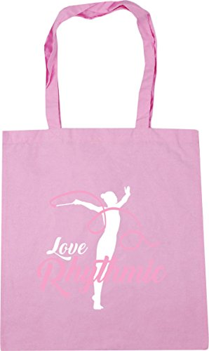 Rhythmic 42cm Shopping Bag Classic Pink HippoWarehouse Beach Love litres Gym 10 Tote x38cm Gymnastics 88gfw