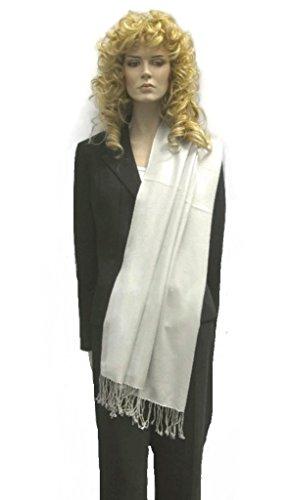 PASHMINA SHAWL - Pure Pashmina 3 Ply shawl from Cashmere Pashmina Group (Silver Grey) by Cashmere Pashmina Group