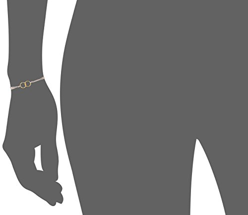 Dogeared Friendship Gold Dipped Double Link Taupe Silk Adjustable Closure Bracelet by Dogeared (Image #3)