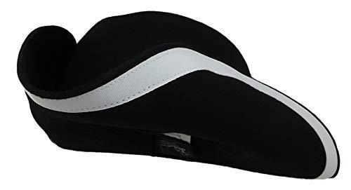Jacobson Hat Company Adult Black Wool Felt Tricorn Three-Cornered Costume Hat S/M ()