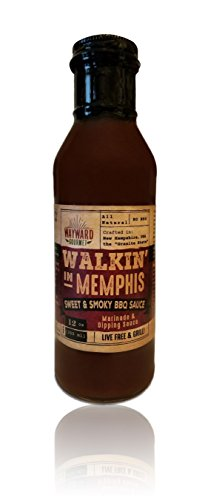 Walkin' in Memphis BBQ Sauce by Wayward Gourmet - Sweet & Smoky Marinade and Dipping Sauce for Pork, Chicken & Beef - The Best BBQ Sauce - Baby Back Ribs Pork Or Beef
