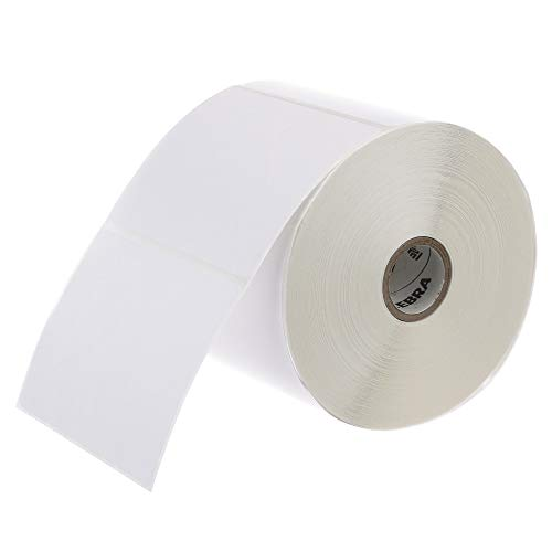 Zebra - 4 x 3 in Direct Thermal Paper labels, Z-Perform 2000D Permanent Adhesive Shipping labels, Zebra Desktop Printer Compatible, 1 in Core - 6 rolls - 10031641SP