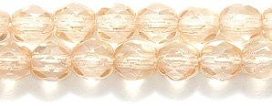 (Preciosa Czech 4-mm Fire-Polished Glass Bead, Faceted Round, Picasso Champagne, 300/pack)