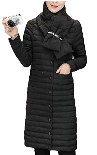 Lightweight Down EKU Long Women's Jacket Outdoor Winter Black Coat Thick wagUaXqS