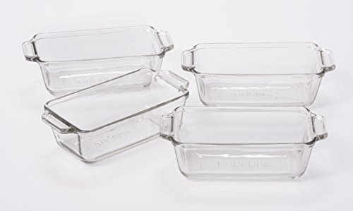 Anchor Hocking Glass Mini Loaf Dish, Set of 4