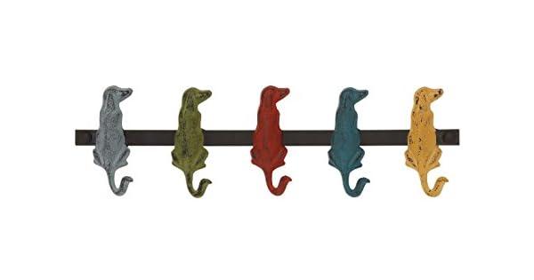 Amazon.com: Deco 79 metal perro Ganchos para pared, 19 por 5 ...