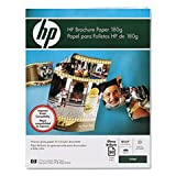 HPamp;reg; Inkjet Brochure Paper, Letter, Bright White, 50 Sheets per Pack