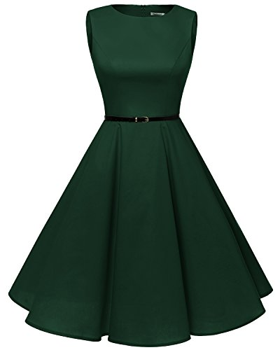 Bbonlinedress 1950s Retro Vintage Swing Rockabilly Floral Party Cocktail Dress Green S
