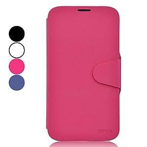 HOR De gama alta caja protectora de cuero de la PU para Samsung Galaxy I9200 Mega 6.3 (varios colores) , Blanco