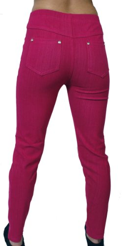 Hot Pink Denim - Dona Michi Hot New Basic High Waist Womens Skinny Jeans Jeggings One Size(s-m-l)