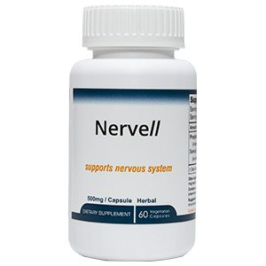 Nervell Premium Herbal Supplement Promotes Nervous System  Brain And Immune System  Help Reduce Memory Loss  Increase Impaired Coordination And Balance   60 Veggie Capsules