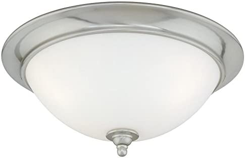 Vaxcel CC35913SN Mont Blanc Flush Mount, 13 , Satin Nickel Finish