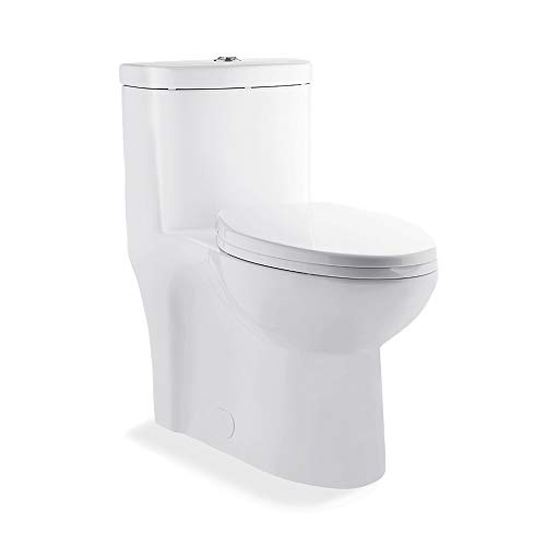 (Swiss Madison Sublime One Piece Elongated Toilet Dual Flush 0.8/1.28 GPF (Soft Closing Quick Release Seat Included))