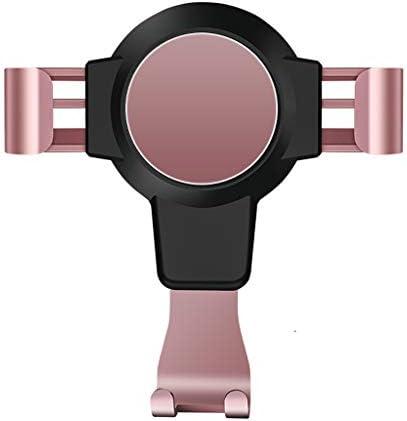 車の電話ホルダーエアアウトレットブラケットオートサプライ重力空調スナップオンブラケット (色 : Pink)