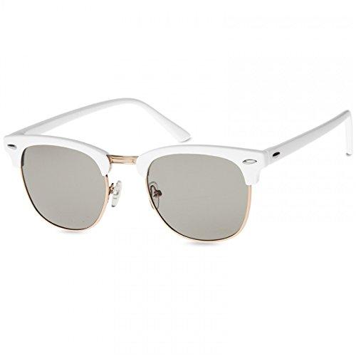 Caspar de Retro Unisex Estilo Sol Blanco Negro Gafas Tintado SG040 de r0qXr1