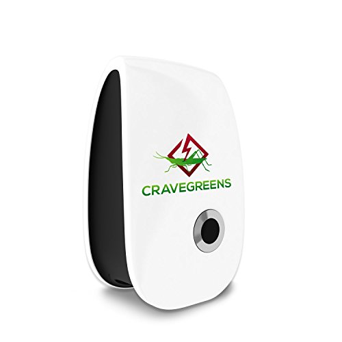 Cravegreens Pest Control Ultrasonic Repellent -Electronic Plug -In Repeller for Insect, (White)