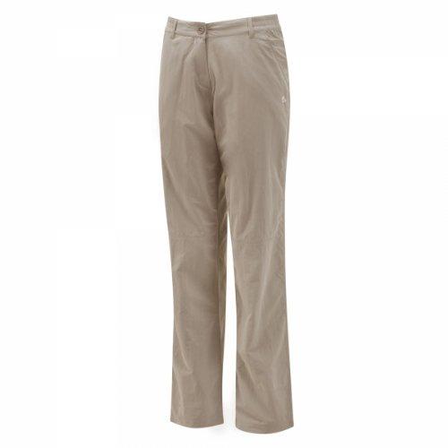 Womens Bug Shield Cargo (Craghoppers Women's Nosilife Regular Trousers, Mushroom, 6 US / 10 UK)