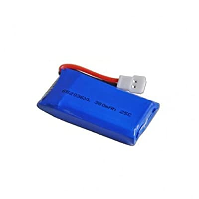 ZJchao 3.7V 380mah Upgraded Battery for Hubsan X4 H107 H107l H107c H107d V252 Jxd385 Quadcopter Helicopter