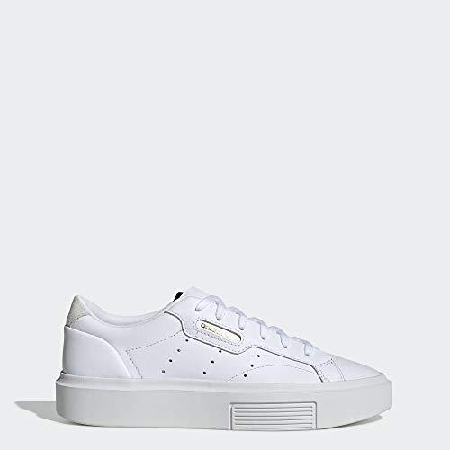adidas Originals Women's Sleek Super Sneaker, Crystal White/Black, 7.5 M US (Super Shoes)