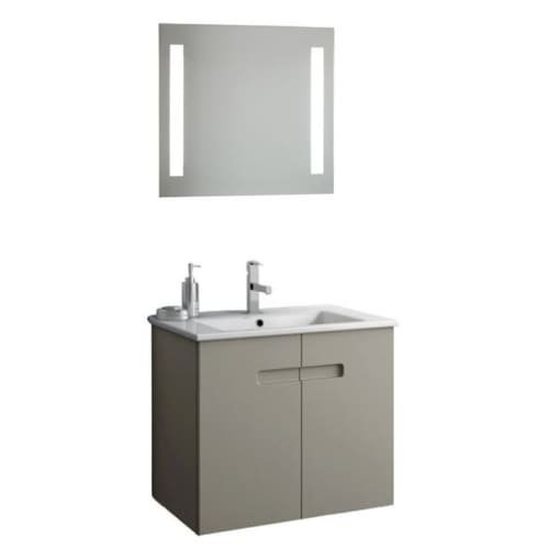 Nameeks NY33 ACF 24-6/15″ Wall Mounted Vanity Set with Wood Cabinet, Ceramic Top, PVC Matt Canapa