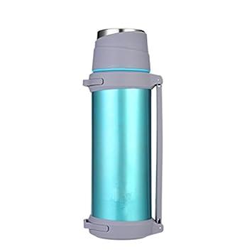 Aislamiento taza térmica de gran capacidad viaje coche calentador de botella de agua botella de agua