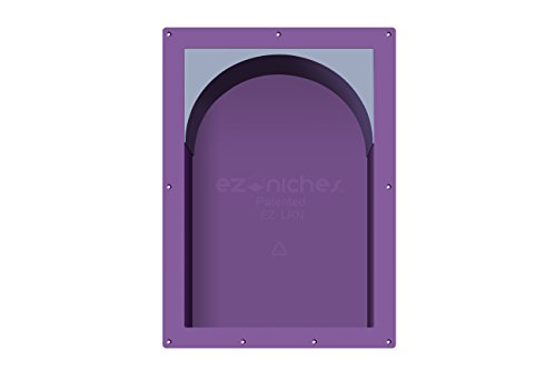 EZ-NICHES USA - 14in x 22in - ARCH - Ready for Tile Preformed Bathroom Recess It Shampoo Shower Wall Niche Shelf by EZ-NICHES