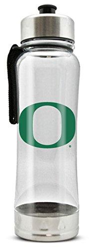 NCAA Oregon Ducks 20oz Clip-On Clear Plastic Water Bottle