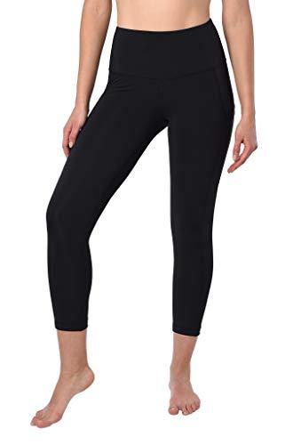 90 Degree By Reflex 22'' Yoga Capris - Yoga Leggings - Yoga Capris for Women - Black with Pocket - XS by 90 Degree By Reflex (Image #1)