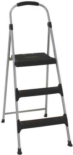 Cosco Signature Series Three Step Steel Step Stool With Plastic Steps by COSCO