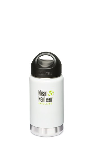 Klean Kanteen Wide Mouth Insulated Loop Cap (12-Ounce, Glacier White) by Klean Kanteen