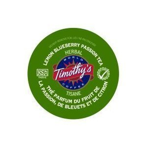 (Timothy's World Coffee Lemon Blueberry Passion Tea K-Cups (24 count) )