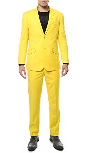 Ferrecci 46L Mens MOD Yellow Slim Fit 2pc Suit -