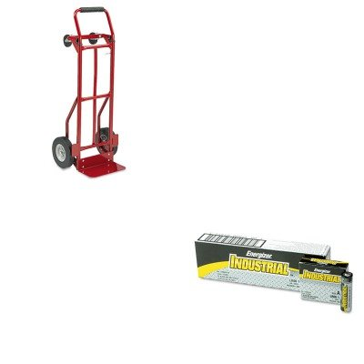 Safco Industrial Hand Trucks (KITEVEEN91SAF4086R - Value Kit - Safco Two-Way Convertible Hand Truck (SAF4086R) and Energizer Industrial Alkaline Batteries (EVEEN91))