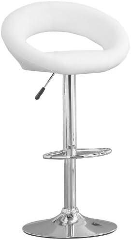 Furniture of America Trent Leatherette Adjustable Bar Stool