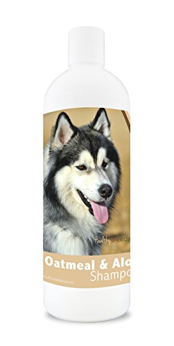 Healthy Breeds Dog Oatmeal Shampoo with Aloe for Siberian Husky - Over 75 Breeds - 16 oz - Mild and Gentle for Itchy, Scaling, Sensitive Skin - Hypoallergenic Formula and pH Balanced