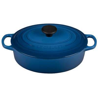 Le Creuset of America Signature Enameled Cast Iron Oval Wide Dutch Oven, 3.5-Quart, Marseille by Le Creuset