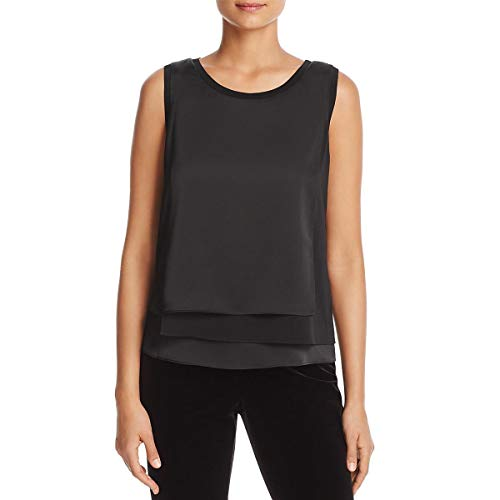 New York Matte Jersey - Kenneth Cole New York Colorblock Sleeveless Shell - Women's - Black