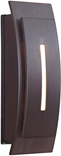 Contemporary Doorbell - Craftmade TB1020-AI Contemporary Curved Lighted Doorbell LED Touch Button, Aged Iron (5