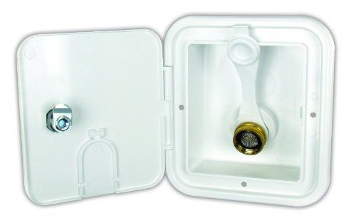 JR Products BGE12-6-A Polar White City Water Hatch with 1/2'' MPT by JR Products