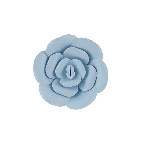 "Mega Crafts 8"" Handmade Paper Flower in Aqua 