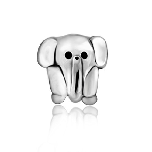 The Kiss Animal Little Elephant 925 Sterling Silver Charm...