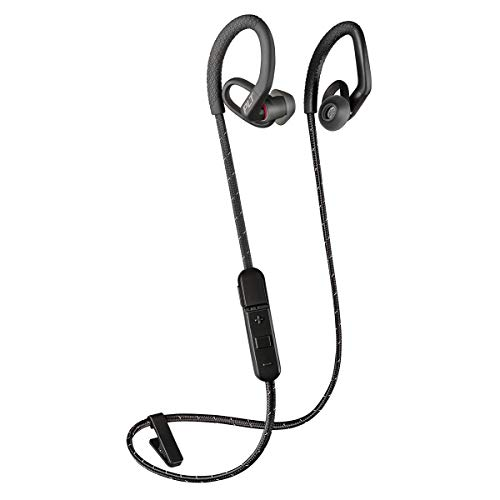 Plantronics BackBeat FIT 350 Wireless Headphones, Stable, Ultra-Light, Sweatproof in Ear Workout Headphones, Black (Plantronics Backbeat Fit Wireless Bluetooth Headphones Review)